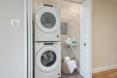 Washer & Dryer | Full size washer and dryer appliances are included in select apartment homes.