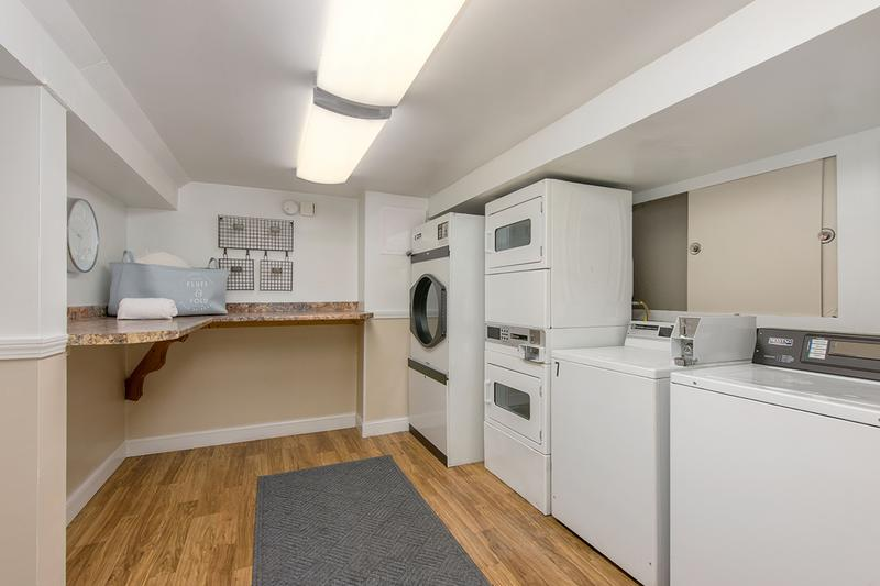 Community Laundry Room | Each of our 2 buildings has its own laundry room with 5 machines so say goodbye to laundromat lines!