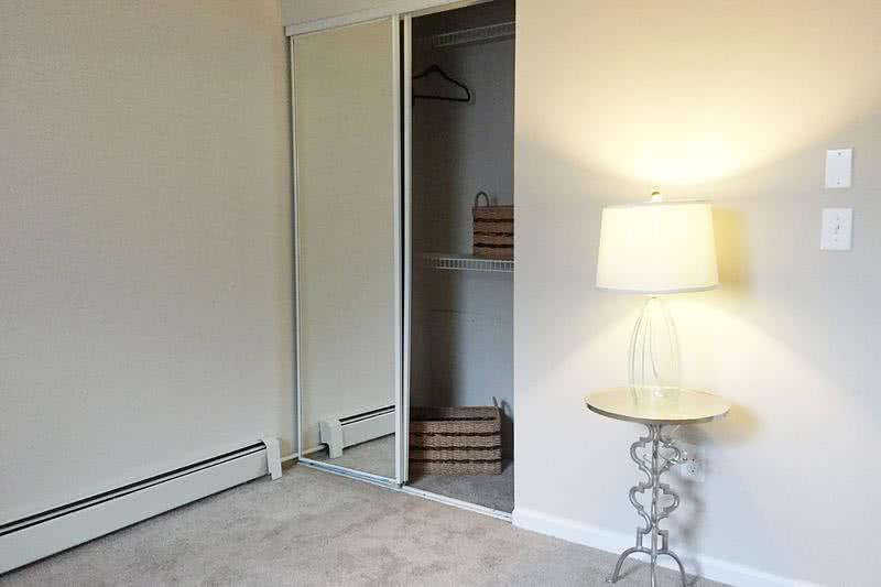Sliding Mirror Closets | All bedrooms include closets with built-in organizers with sliding mirror doors.