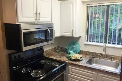 Stainless Steel Appliances | Our updated kitchens also feature stainless steel appliances.