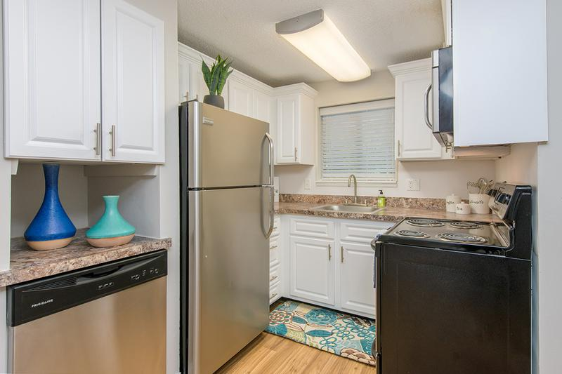Updated Kitchen | You'll enjoy our newly updated kitchens featuring a built-in pantry are and a dishwasher.