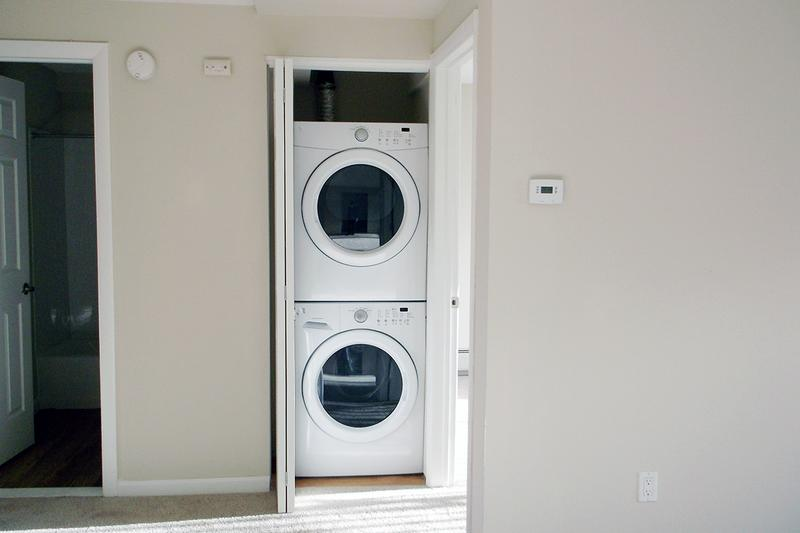 Washer & Dryer Included | Full size washer and dryer appliances are included in all apartment homes.