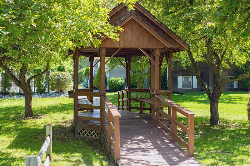 Gazebo | Relax in the shade under our gazebo.