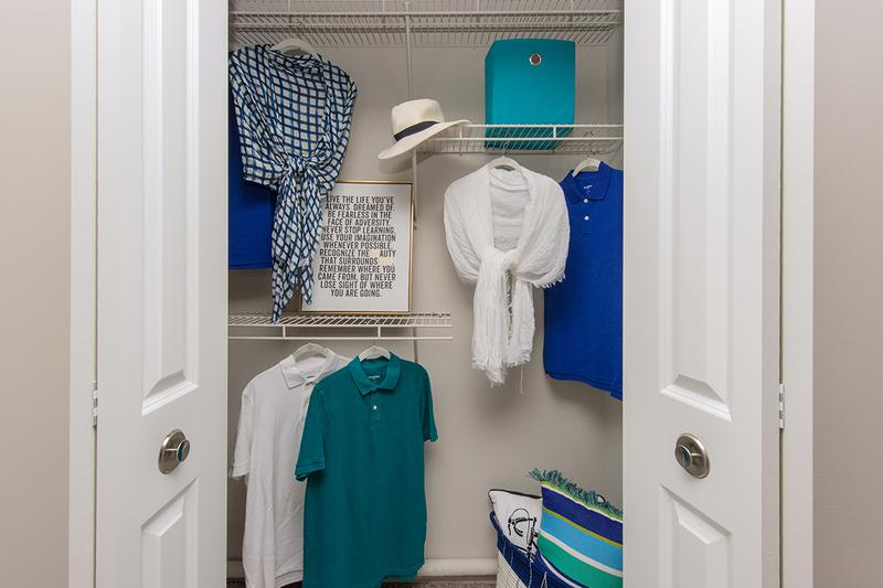 Closets | Closets with built-in organizers.