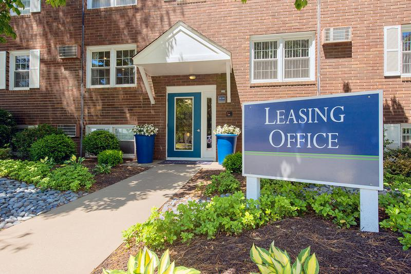 Leasing Office Exterior | Come on into the leasing office to say hello or grab a cup of coffee.