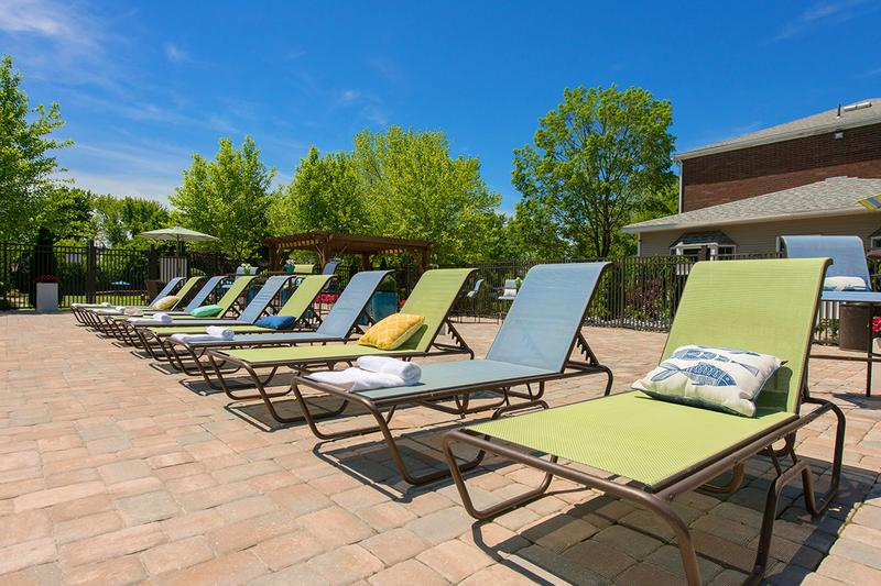 Poolside Loungers | Relax in one of our poolside loungers.