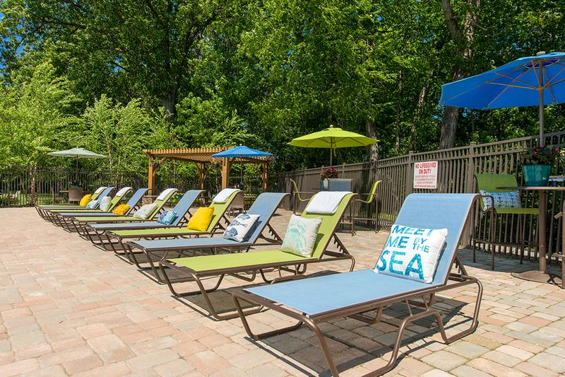 Poolside Loungers | Kick back & relax in our brand new pool loungers on our expansive sundeck.