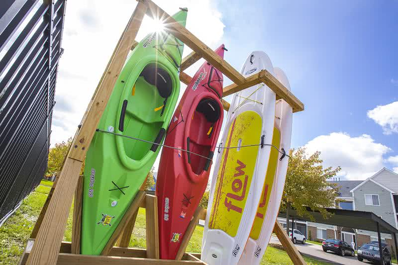 Kayaks & Paddle Boards | Residents can utilize our community kayaks and paddle boards for a fun time out on the lake.