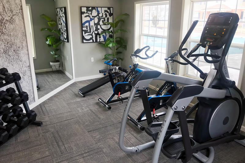 Cardio Equipment | Get in your cardio on our elliptical, treadmill or spinning bike!