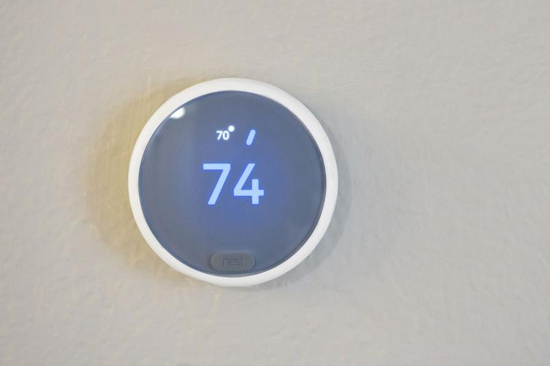 Nest Thermostat | Energy efficient Nest thermostats available in select apartment homes.