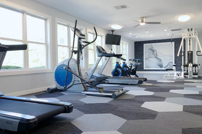 Newly Renovated Fitness Center | Get a workout in our newly renovated fitness center.