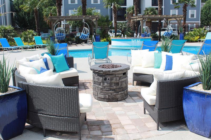 Outdoor Firepit | Enjoy a cool night by our poolside fire pit.