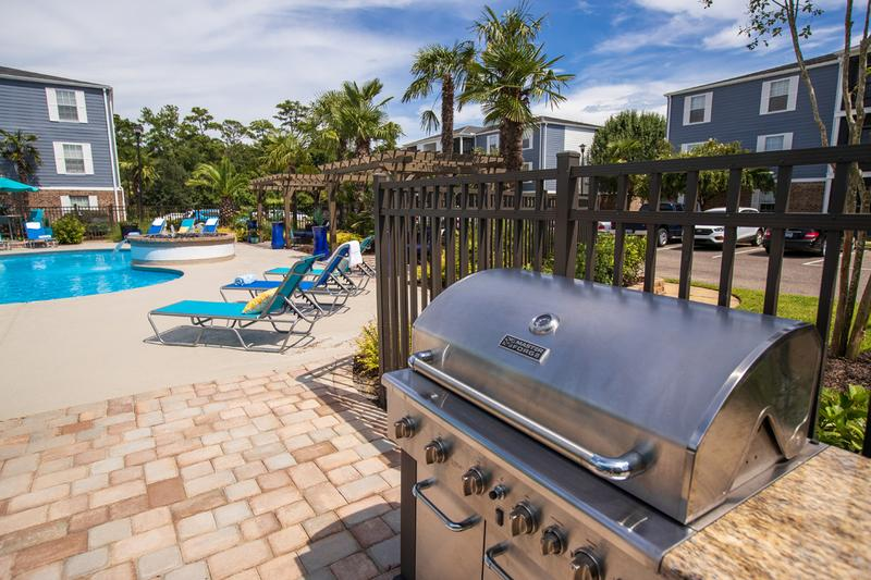 Gas Grill | Cookout by the pool with our gas grill.