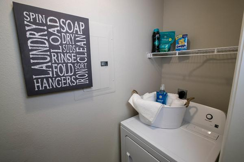 Laundry Room | Washer and dryer connections are included in all apartment homes.