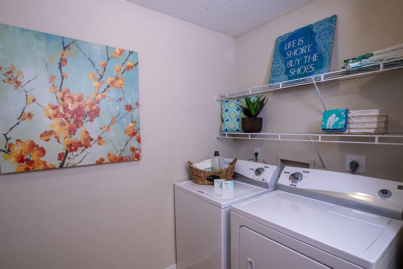 Washer & Dryer Appliances | Your apartment home is complete with washer and dryer appliances.