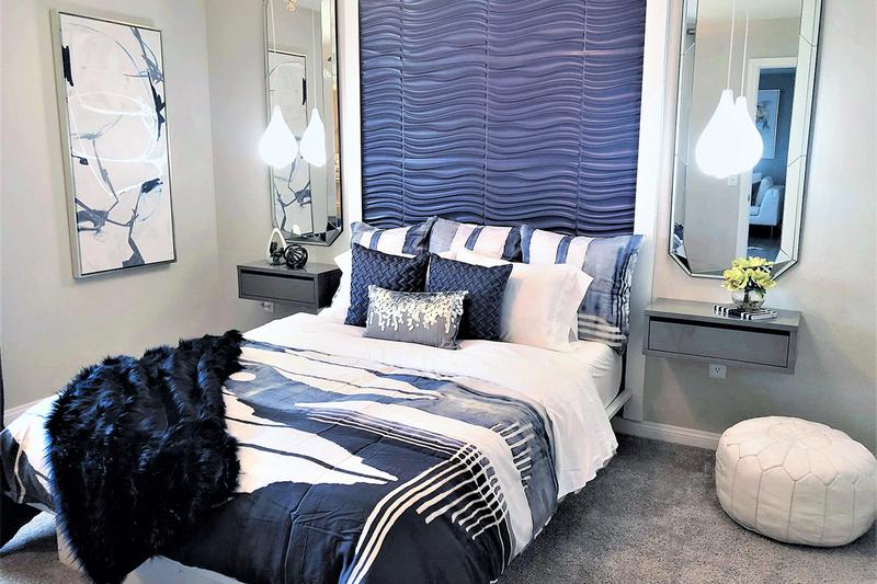 Bedroom | Spacious bedrooms featuring large closets with built-in organizers.