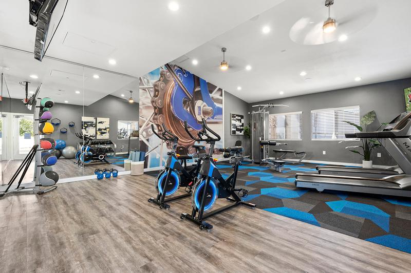 State-of-the-Art Fitness Center | Our state-of-the-art fitness center featuring all the cardio and weight training equipment you need for a full body workout.