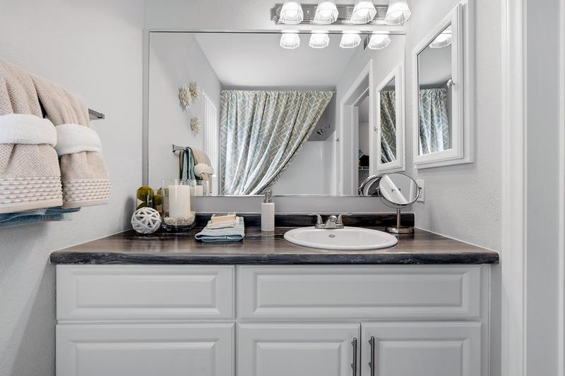 Oversized Vanity | Your master bathroom features an over-sized vanity.
