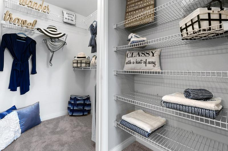 Master Closet | You'll enjoy having a spacious walk-in closet with built-in organizers.
