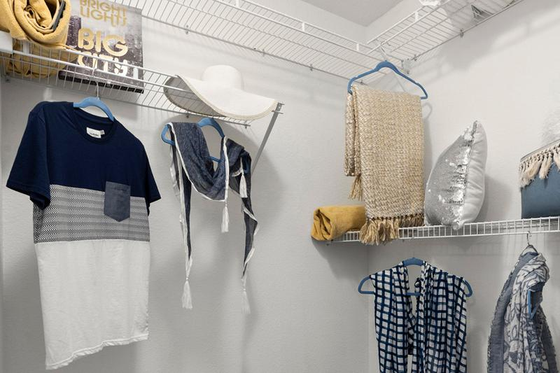 Walk-In Closet | Spacious walk-closets with built-in organizers.
