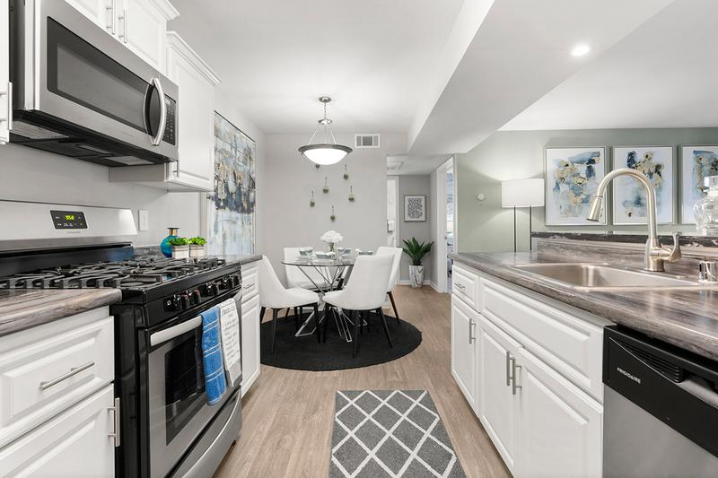 Spacious Kitchens with Dining Area | This open concept, chef-style kitchen is designed not only for style, but also for functionality and convenience!