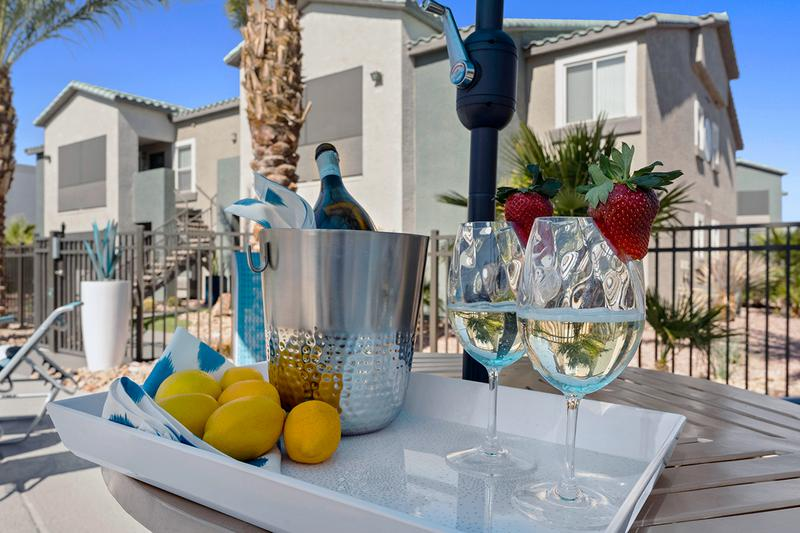 Poolside Tables | Enjoy a drink and a snack at one of our poolside tables.