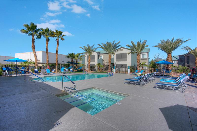 Resort-Style Pool with Expansive Deck | Go swimming in our resort-style pool or unwind after a long day in the spa.