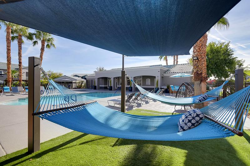 Hammocks | Lay out and relax in one of our hammocks by the pool.