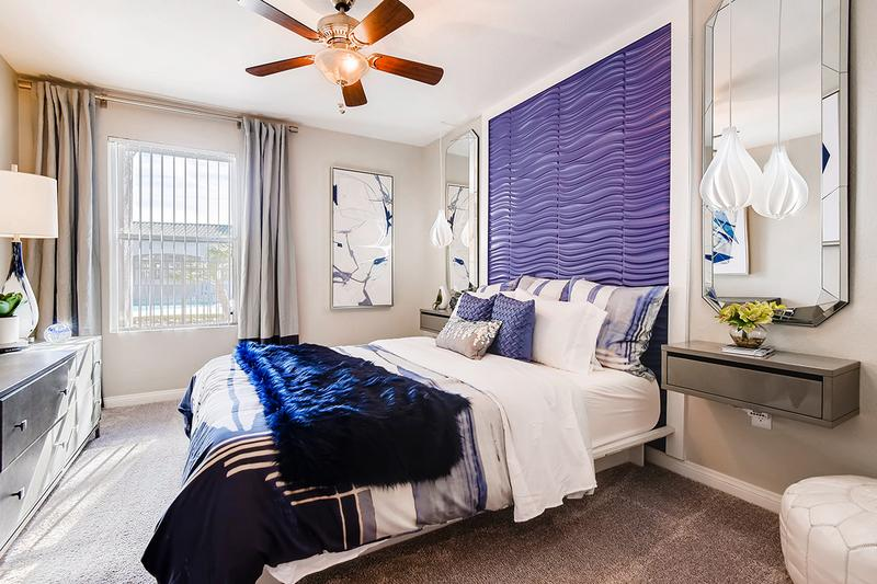 Master Bedroom | Walk into your bright and airy Master bedroom complete with your own en-suite master bath, HUGE walk-in closet, and additional built-in with shelving for all the space you could possibly need!