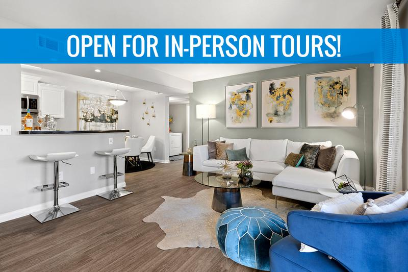 Spacious Open Floor Plans | Entertain guests in this inviting and spacious living room with gorgeous natural, Las Vegas sunlight streaming through! We are excited to offer in-person tours while following social distancing and we encourage all visitors to wear a face covering.