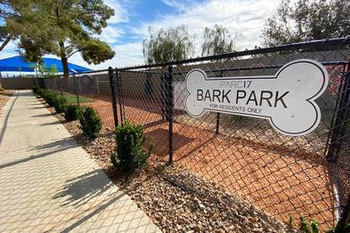 Pet Friendly with Bark Park | Bring your furry friend down to our off-leash dog park.