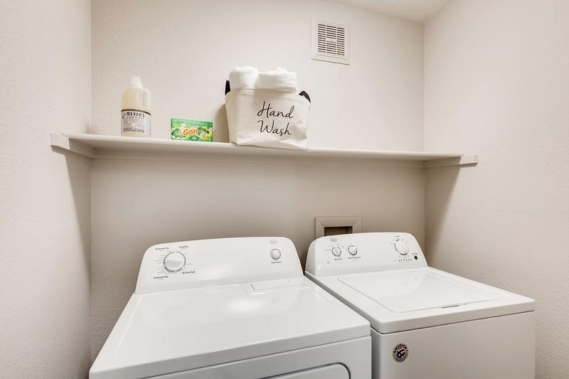 Full Size Washer & Dryer | Full size washer and dryer appliances are included for your convenience. (Renovations Coming Soon)