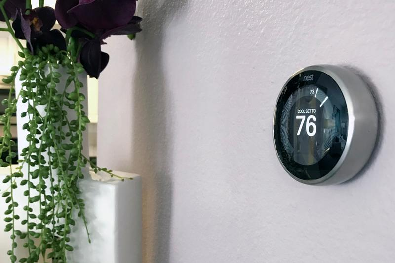 Nest Thermostats | Energy efficient Nest thermostats available in select apartment homes.
