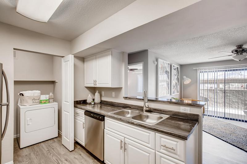 Breakfast Bar | Kitchens also feature a breakfast bar and a laundry room.