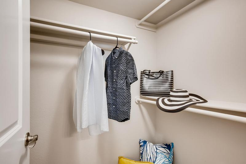 Spacious Walk-In Closets | Spacious walk-in closets featuring built-in organizers.