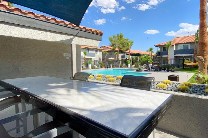 Outdoor Kitchen | Enjoy views of the pool while enjoying a cook out at our outdoor kitchen.