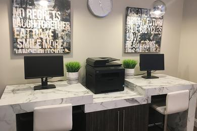 Business Center | Resident business center with high speed internet and printing.