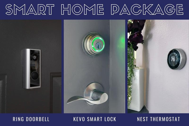 Energy Efficient Package | Our energy efficient package includes a ring doorbell, kevo smart lock, and next thermostat. Remote Entry and Access along with Temperature Control that reduces electric bills by 10%-12% and provides peace of mind and ease at your fingertips.
