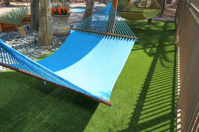 Hammock Garden | Lay out on one of our hammocks in the hammock garden coming soon!