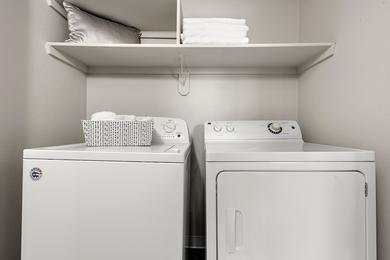 Full Size Washer & Dryer | Full size washer and dryer applianced included in every apartment home.