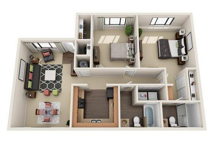 2 bedroom apartment floor plans pricing v lane - Two bedroom apartments in las vegas nevada ...