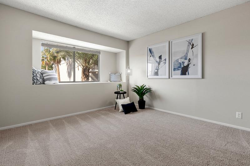 Master Bedroom | Master bedroom featuring plush carpeting and a large window.