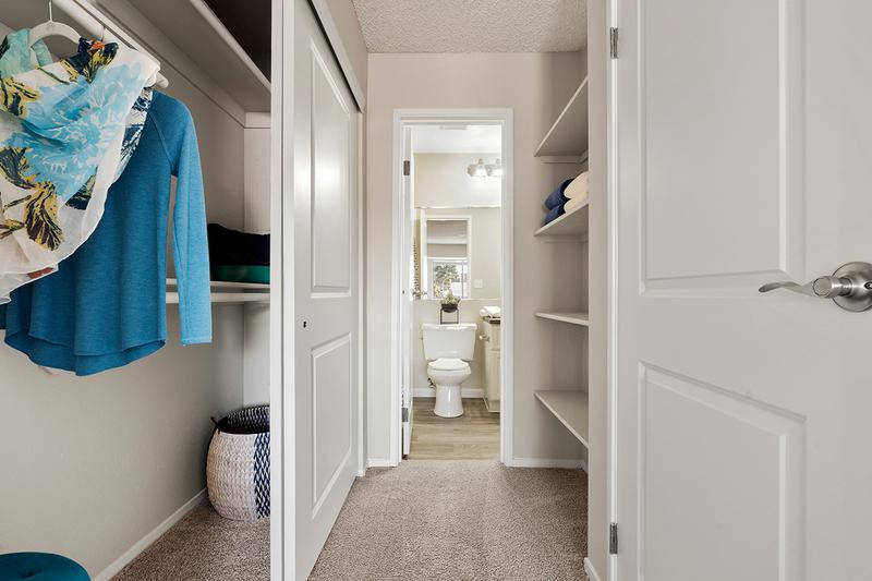 Walk-Through Closets | Master bedrooms also feature a walk through closet leading to the master bathroom.