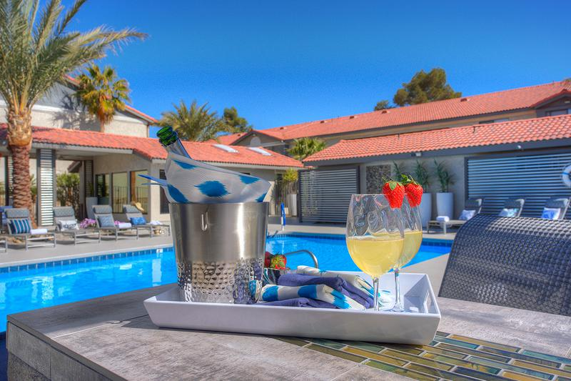 Poolside Tables | Enjoy a refreshing drink by the pool.