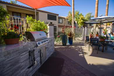 Gas Grill | Have a cookout by the pool using our gas grill.
