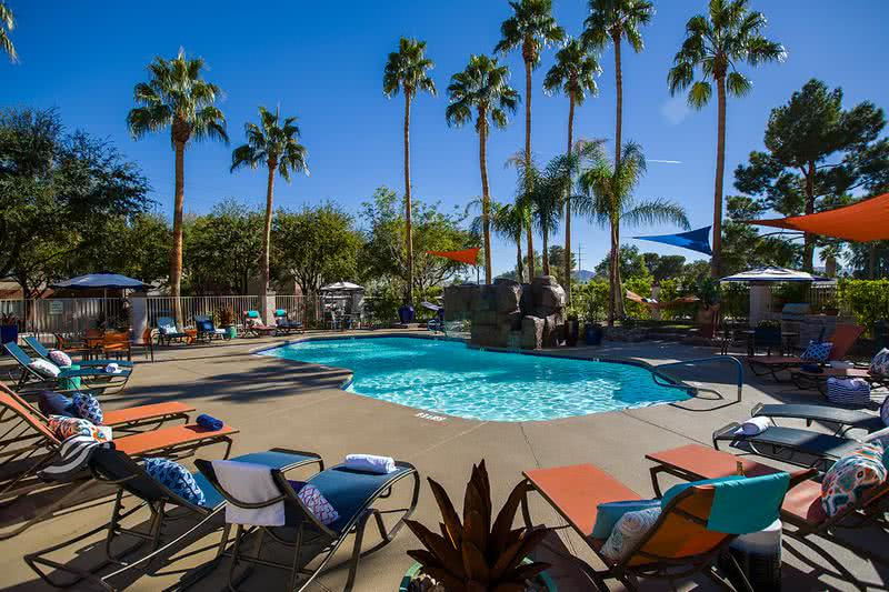Resort-Style Pool | Take a dip in our resort-style swimming pool and enjoy views of our fountain.