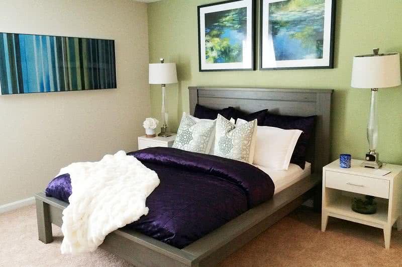 Bedroom | Spacious Bedrooms with plush, neutral carpeting.