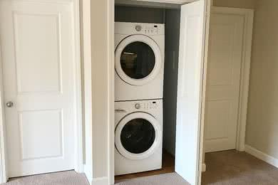 Washer & Dryer Appliances | Apartment homes feature a full size front loading washer and dryer.