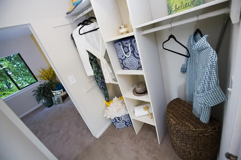 Walk-In Closet | Spacious walk-in closets with built-in organizers in the master bedroom.