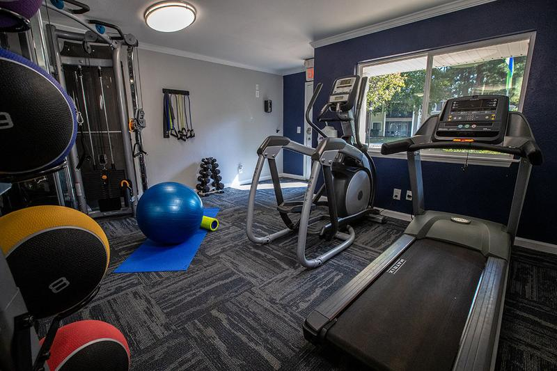 Fitness Center | The fitness center has a variety of fitness equipment for residents